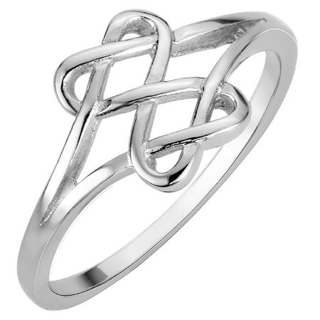 Sterling Silver Hearts Infinity Fusion Ring (Sizes 3-15) - Angry Birds Halloween 3-15 Three Stars