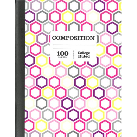 Pen Gear 100 Sheets Fashion Composition Book College Ruled