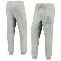 Men's Gray North Carolina Tar Heels Curb Tri-Blend Cuffed Pants