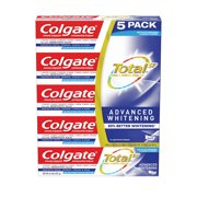 Colgate Total Advanced Whitening Toothpaste, 5ct, 6.4oz each