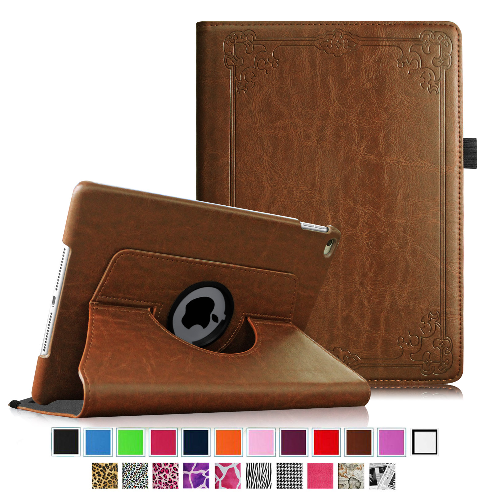 Fintie iPad Air 2 Case - 360 Degree Rotating Case w/ Auto Sleep / Wake for iPad Air 2 2014 Model, Vintage Antique Bronze