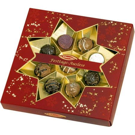 Boxed Truffle - Schwermer Christmas Star Window Gift Box with Truffles