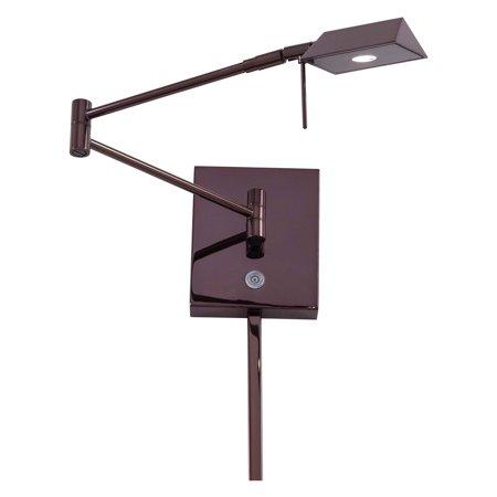 1 Light Wall Swing Lamp (George Kovacs 1-Light LED Swing Arm Lamp - Chocolate)
