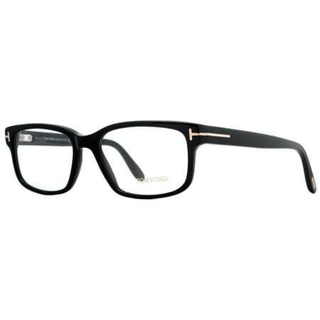 Tom Ford TF5313 001 55mm Shiny Black/Gold Unisex Rectangular (Tom Ford Prescription Glasses Womens)