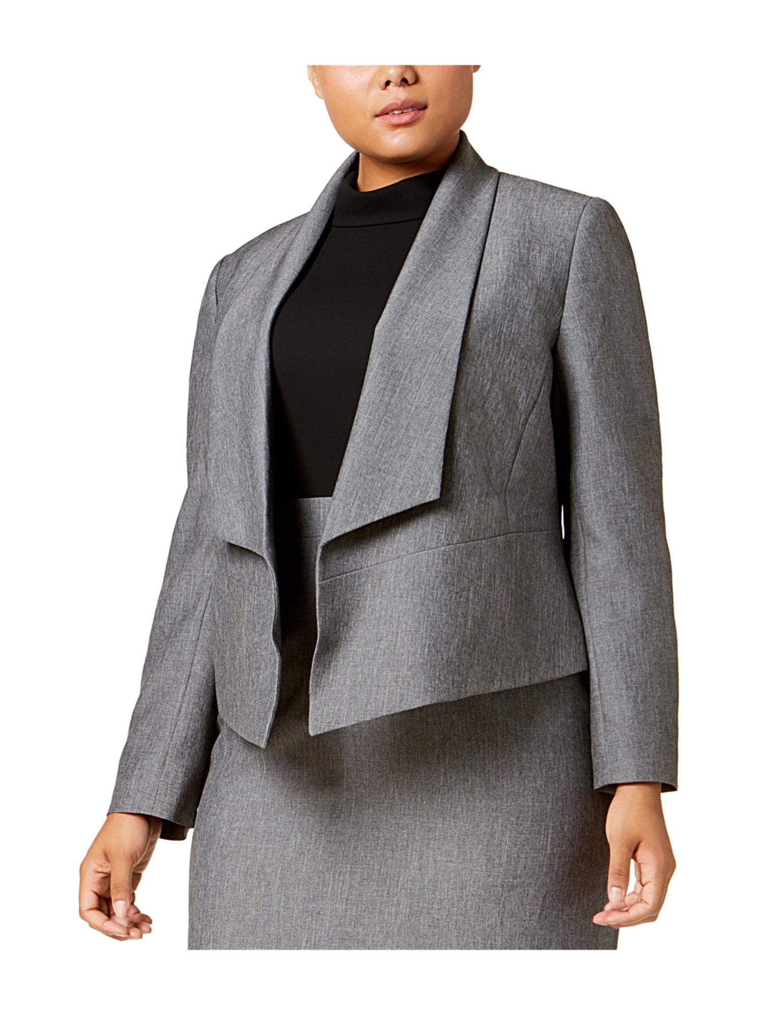 55495a73bd4f8 Nine West Womens Plus Size Flyaway Blazer Jacket greystone 20W ...