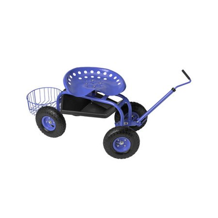 Deluxe Tractor Scoot with Bucket Basket (Small Red Buckets)