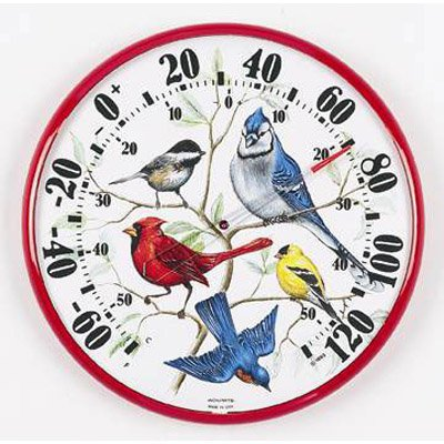 Acu-Rite Songbirds 12.5 in. Indoor Outdoor Thermometer by Chaney Instrument Co