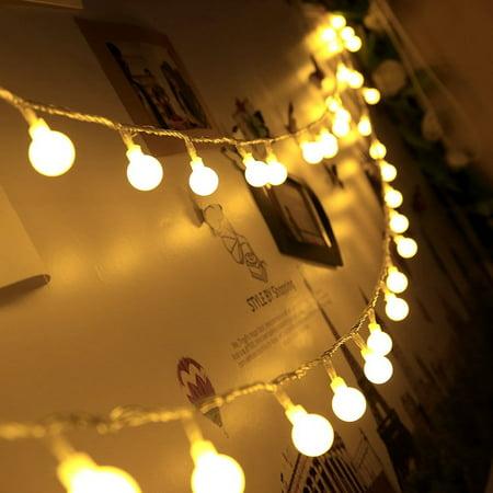 Led Globe String Lights 40 Led Frosted Ball Christmas