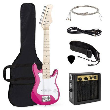 Electric Guitar Starter - Best Choice Products 30in Kids 6-String Electric Guitar Beginner Starter Kit w/ 5W Amplifier, Strap, Case, Strings, Picks - Pink