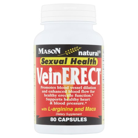 Zinc Sexual Health - Mason Natural Sexual Health VeinErect Capsules, 80 count