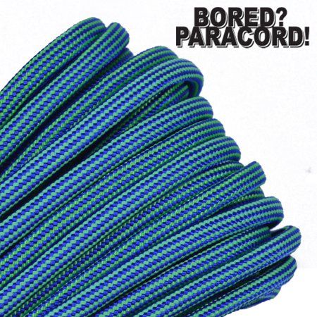 50 550 Lb Type (Bored Paracord Brand 550 lb Type III Paracord - Electro Shock 50)