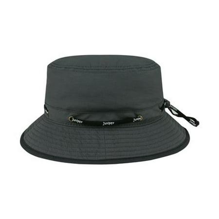 Juniper J7267 Taslon UV Lookout Bucket Hat, Charcoal - Large - image 1 de 1