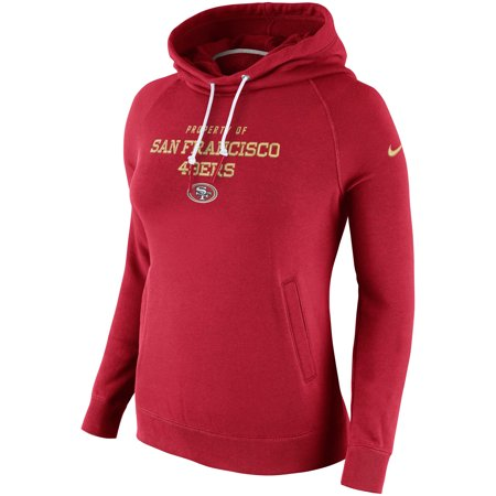 San Francisco 49ers Nike Women's Stadium Rally Funnel Pullover Hoodie -
