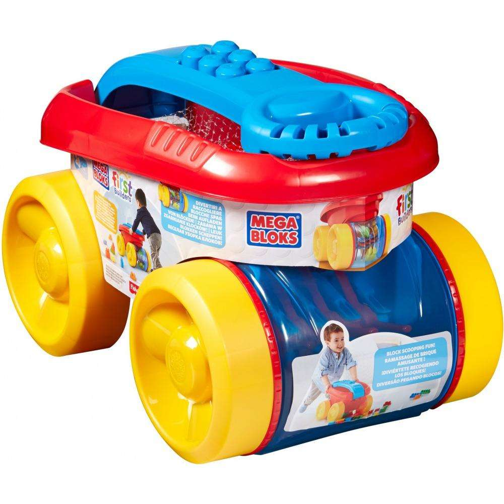 Mega Bloks First Builders Block Scooping Wagon with Free $10 Gift Card -  Walmart com