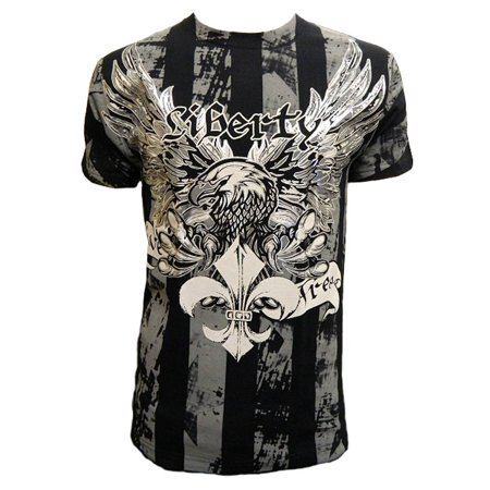 Konflic Mens Liberty Eagle Graphic MMA Muscle T-Shirt for $<!---->