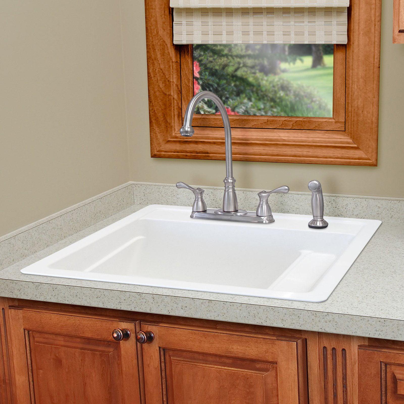 Mustee Vector 25 Single Basin Drop In Utility Sink