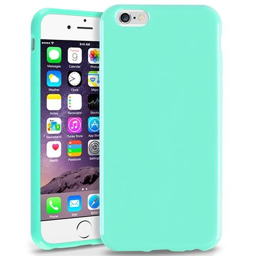 Insten Mint Green Jelly TPU Slim Skin Gel Rubber Cover Case For Apple iPhone 6 6S 4.7 inch 4.7""