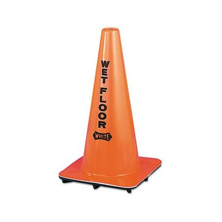 - Wet Floor Cone, Vinyl, 10-3/4 X 10-3/4 X 18, Orange IMP9100