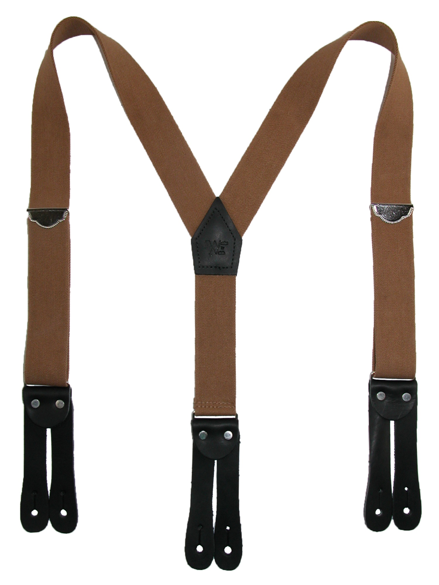 Mens Suspenders Adjustable Elastic Heavy Duty 1.4 Inch Wide X Shape 3 Strong Clips Suspender Braces Beige