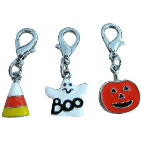 Halloween Lobster Claw Charms - Zipper Pulls Candy Corn one size (Zippers Toronto Halloween)
