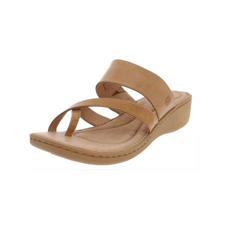 Leather Wedge Siene Born Sandals Womens Thong DIYeE2HW9