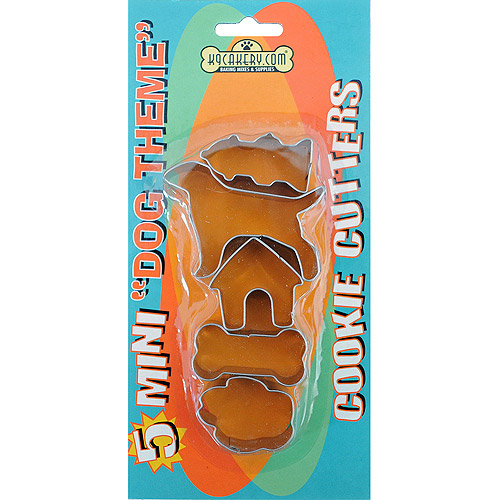 Cookie Cutters 5pk, Mini Dog Theme