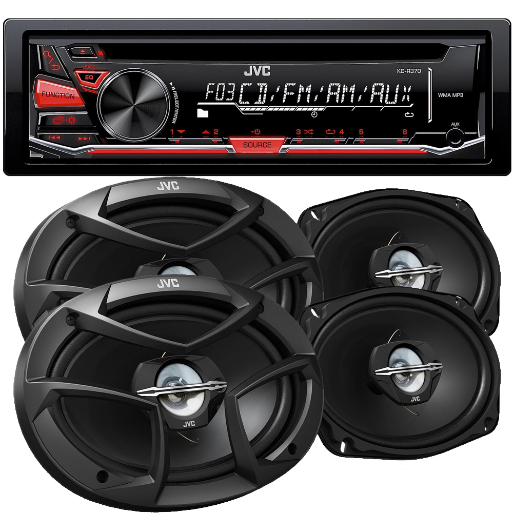 JVC KD-R370 CD with 6x9 CSJ6930 Speakers