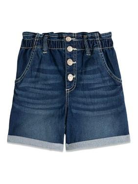 Jordache Girls 5-18 Paperbag Waist Denim Jean Shorts