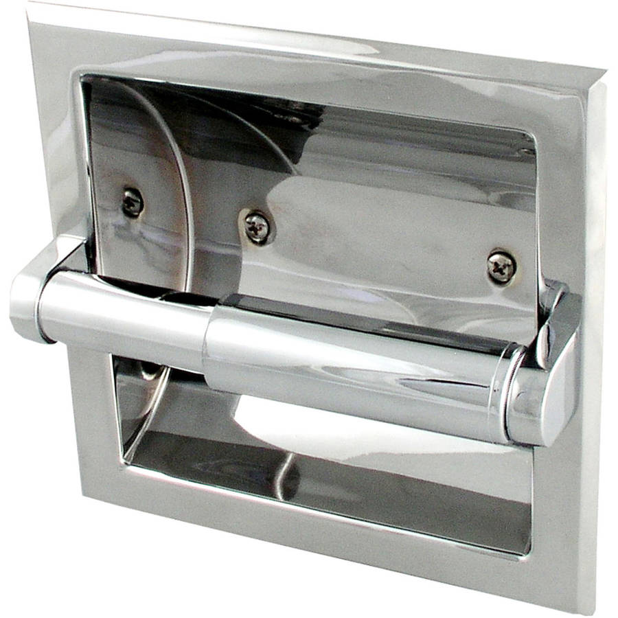LDR 162 4634 Chrome Prestige Recessed Toilet Paper Holder