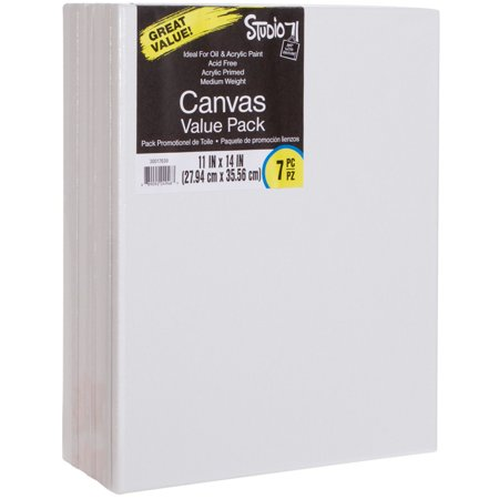 Darice Studio 71 Stretched Canvas Value Pack, 11 x 14 Inches, 7 Pack (Chromakey Canvas)