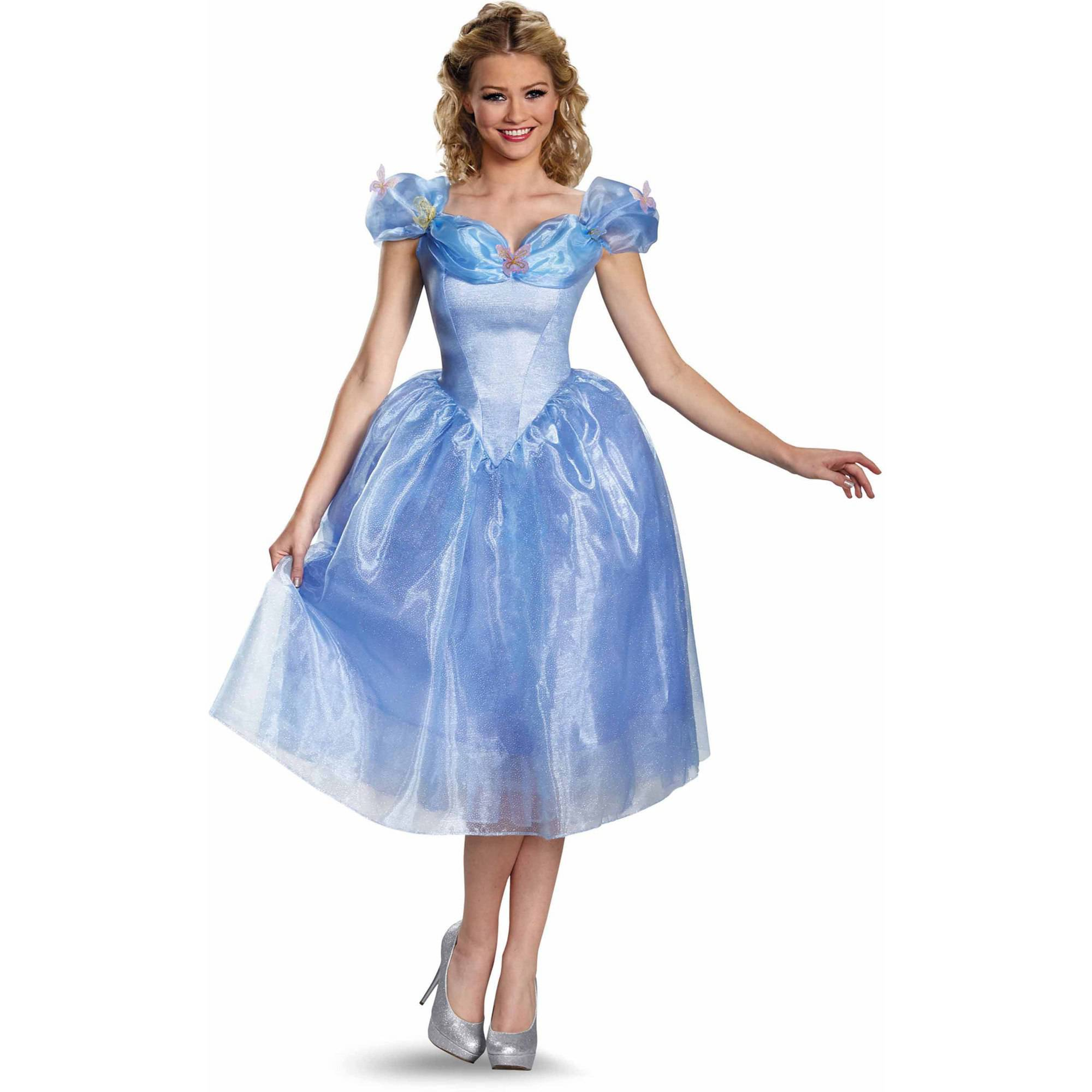 cinderella movie cinderella adult deluxe halloween costume walmartcom