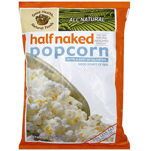 Good Health Natural Foods Halfnaked Popcorn With A Hint Of Olive Oil, 4 oz (Pack of 12)