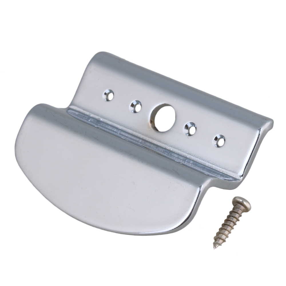 BQLZR 31 x 29mm Silver Zinc Alloy Banjo Tailpiece Replacement for 4 String Banjo Guitar by