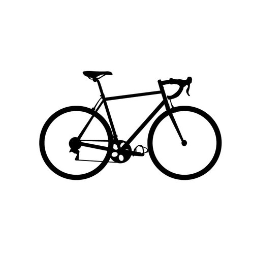Dana Decals Tiny Bicycle Road Bike Wall Decal (Set of 30)