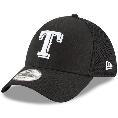 Texas Rangers New Era Neo 39THIRTY Unstructured Flex Hat- Black