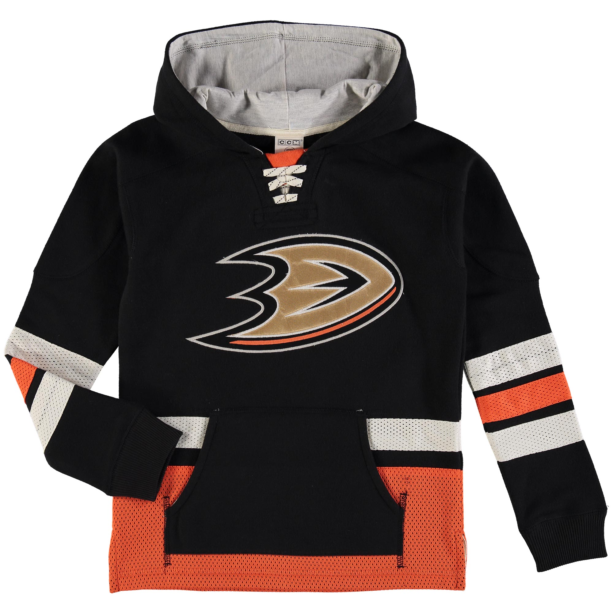 Anaheim Ducks Reebok Youth Retro Skate Hoodie Black by Outerstuff
