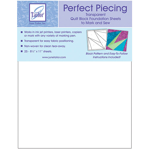 Perfect Piecing Quilt Block Foundation Sheets, 25pk