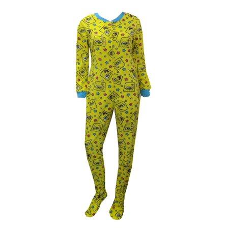 SpongeBob Faces and Stars Onesie Footie Pajama - Spongebob Pj