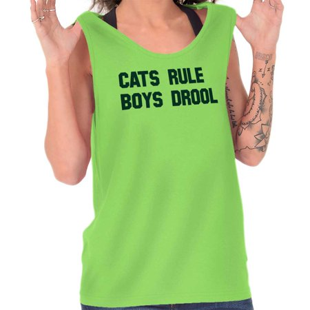 Brisco Brands Crazy Cats Rule Boys Drool Tank Top T-Shirt For
