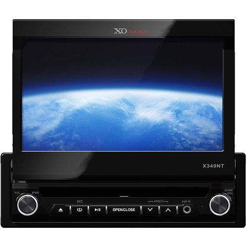 """XO Vision X349NT, 7"""" In-Dash Touch Screen DVD Receiver"""