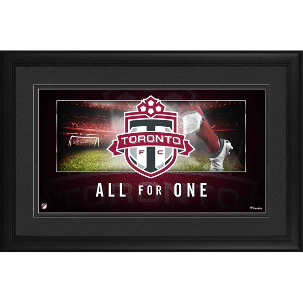 "Panoramic Picture Frames Walmart: Toronto FC Framed 10"" X 18"" Team Logo Panoramic Photograph"