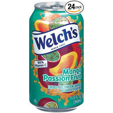 24 PACKS : Welch's Mango Passionfruit Flavored Fruit Juice Drink , 11.5-Ounce Cans