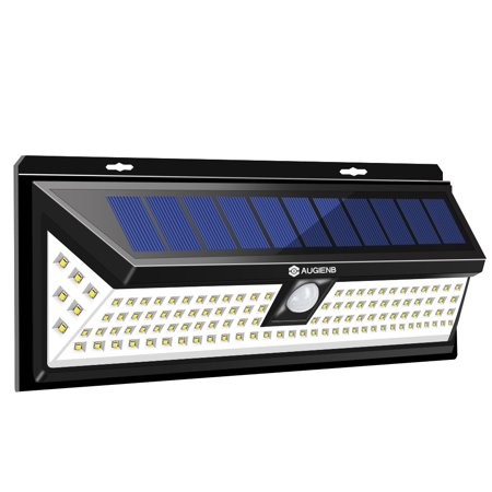 Augienb Solar Ed Super Bright 118 Led Light Garden Outdoor Motion Sensor Wall Lights Security Nightlight
