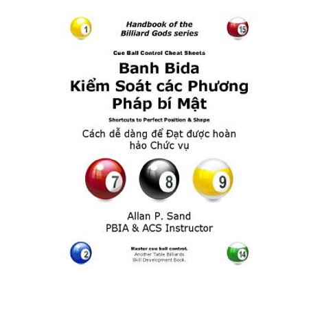 Cue Ball Control Cheat Sheets (Vietnamese) : Easy Ways to Perfect Position