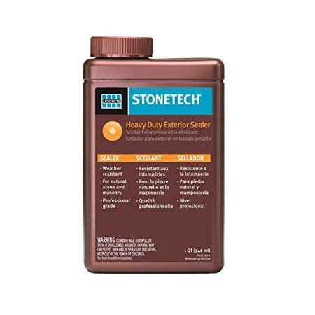 stonetech heavy duty exterior sealer for stone & masonry, 1-quart