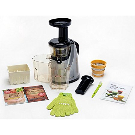 Wonderchef Hurom Slow Juicer With Cap : HUROM HU-100SB Masticating Slow Juicer Machine (Silver) with Juice Cap & BONUS GIFTS: Coarse ...