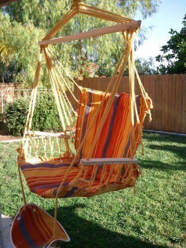 Petra Leisure Deluxe Quilted, Double Padded Hammock Chair Swing. 245 LB  Capacity
