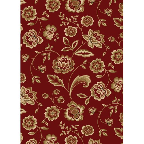 Mayberry Rug City Claret Flora Area Rug