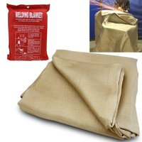 XtremepowerUS 4 x 6 ft Welding Blanket Fire Retardant Cover Protective Fireproof Thermal Resistant Insulation