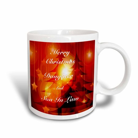 3dRose Print of Christmas For Daughter And Son In Law, Ceramic Mug, (Christmas Poem For Daughter And Son In Law)